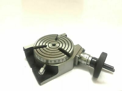 Rotary Table Horizontal And Vertical --4''/100 MM  3 Slots • 54.50£