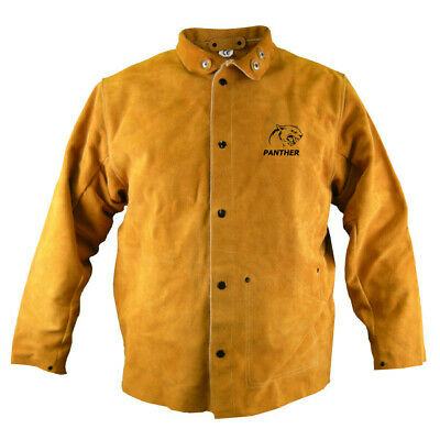 Parweld Panther Leather Welders Jacket Protective Welding P3788 (VARIOUS SIZES) • 53.21£