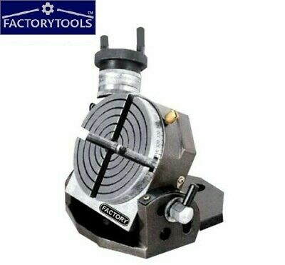 ROTARY TABLE  TILTING 4  / 100 MM  4 Slots • 70£