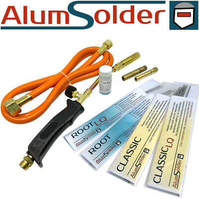 ALUMINIUM BRAZING KIT - 4 TYPES OF RODS, Gas Torch And Flux, ALUMSOLDER KIT • 49.50£