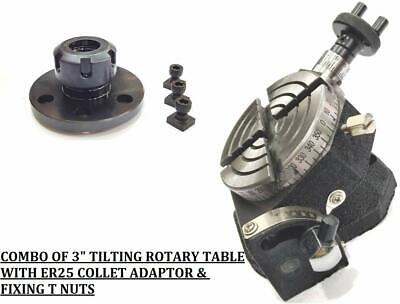 ER-25 Collet Adaptor For Instant Milling-( WITH A 3  TILTING ROTARY TABLE) • 99.23£