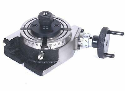 4 Rotary Table With ER-16 Collet Adapter For Milling Machines+Fixing Tnuts Bolts • 92.27£