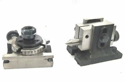 Rotary Table 3 / 80 Mm With Er-16 Collet Adaptor & Suitable Tailstock • 142.30£