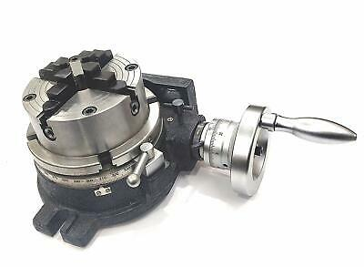 HV6 ROTARY TABLE(150 Mm / 6  Inches)+125 MM 4 JAWS INDEPENDENT DOG CHUCK • 291.54£