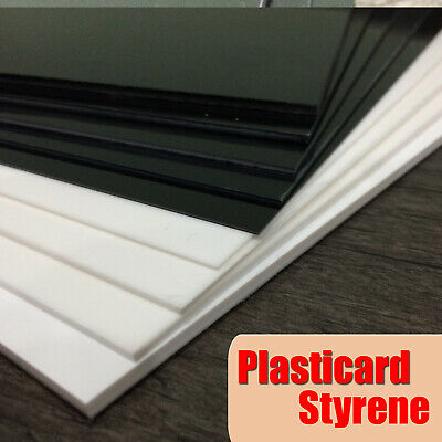 Plasticard Styrene (HIPS) A4 Plastic Sheet Black Or White - 0.5mm To 4.0mm • 2.85£