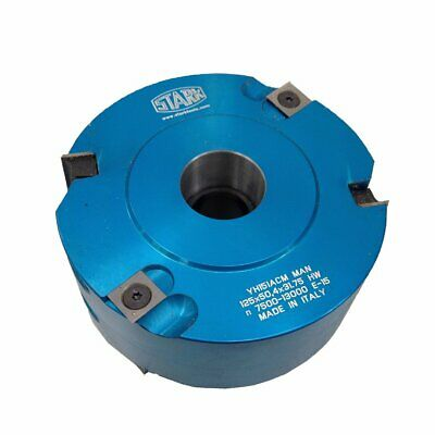 125 Dia X 50mm X 30mm Bore Alloy Spindle Moulder Cutterhead. 2 Off 50mm Rebate B • 144£