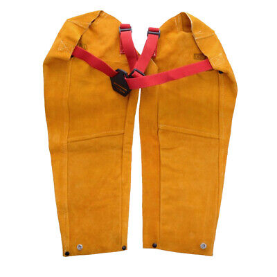 Durable Yellow Welding Sleeves Button Cuff Flame Resistant Fire Resistant • 29.90£