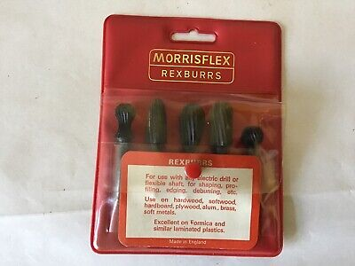 Set Of 5 Vintage 1980s Period Morrisflex Burrs Wood Working Shaping • 22.99£
