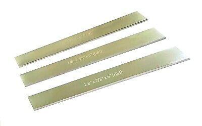 Set Of 3 HSS Blades 1/8'' X 7/8'' X 6'' (M2 Grade) For Lathe Parting Cut Of Hold • 27.95£