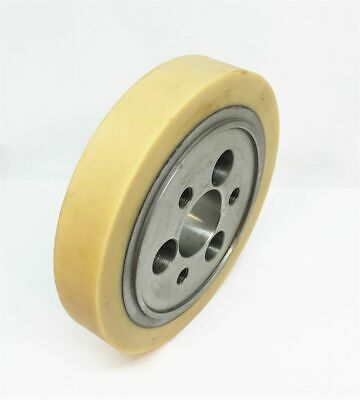 LEADERMAC 1 Inch POLY ROLLER-FLANGE (LMC 0432) 140 Dia 6 Holes (3 Tapped) 35 Bor • 114£