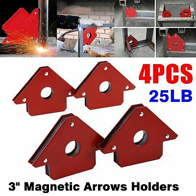 4PC 3  Magnetic Arrows Holders 25Lb STRONG Magnet Welding Soldering Set • 9.99£