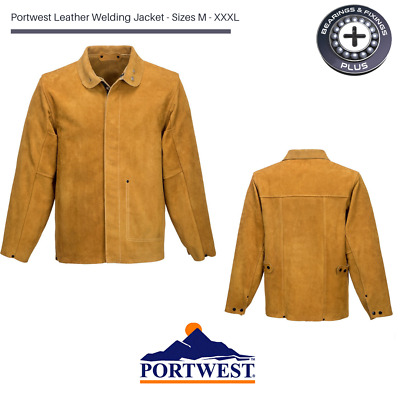 Portwest SW34 Leather Welding Jacket, Class 2 Protection, Flame Resistant, Coat • 44.99£