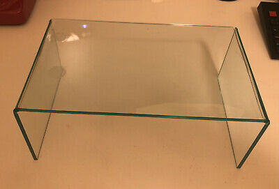 2 Clear Plexiglass Stands For PC Screens • 9.99£