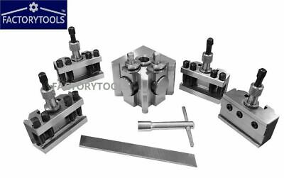 5 Pieces Set T51 Quick Change Toolpost Standard Boring Parting Holder Wooden Box • 109£