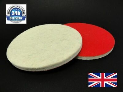 115mm 4.5  / 6mm Felt Polishing Pads Discs Glass Metal Polish Buffing Pack Of 5 • 12.99£