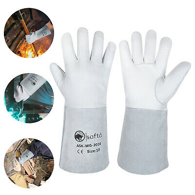 Welding Gloves Sheepskin Leather Natural Split Leather Cuff ASK-WG-2010 5/Pairs • 29.99£