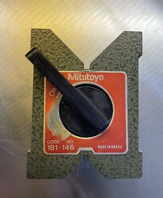 Mitutoyo Magnetic Vee Block. No.181-146,Useable Condition. Good Strong Magnet. • 25£
