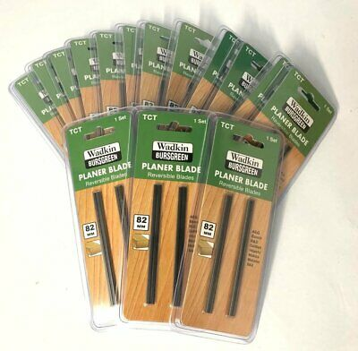 2 X 82mm TCT PLANER BLADES -Box Of 15 Blister Packs- Ideal For Resale • 30£