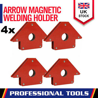 4 X Magnetic Large Welding Magnet Holder For Up To 50lbs 45 90 135 Angles • 10.69£