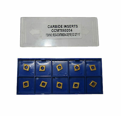 RDGTOOLS CCMT 06 CARBIDE TIPS / INSERTS / TURNING TOOLS X10 • 926.95£