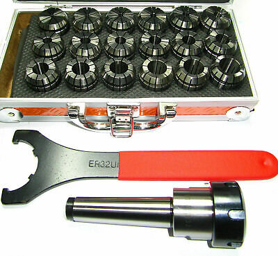 Rdgtools Er32 Collet Set 2-20m Capacity With 4 Hole Er32 Backplate And Spanner • 920£