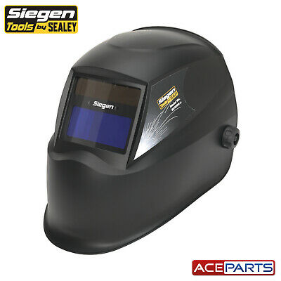 Sealey S01000 Shade 11 Solar Powered Auto Darkening Welding Helmet Shade MIG ARC • 23.10£