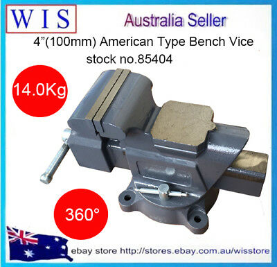 4 /14Kg American Type Rotate 360° Industry Bench Vise Work Bench Clamp-85404 • 85.11£