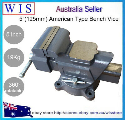"5""/19Kg American Type Rotate 360° Industry Bench Vise Work Bench Clamp-85405 • 108.83£"