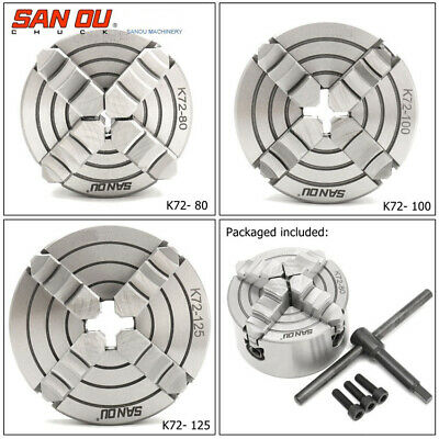 4 Jaw Independent Lathe Chuck CNC Drilling Machine 80 125 160 200 315 400mm • 39.99£
