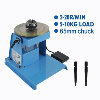 10KG Rotary Welding Positioner Turntable Table 3 Jaw Lathe Chuck 2-10 RPM 230V • 229£
