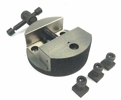 80 Mm Caste Iron Round Vice For 3  (80 Mm) And 4  (100 Mm) Rotary Table • 24.99£