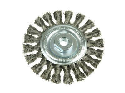 Knot Wheel Brush 115 X 14mm M14 Bore Steel Wire 0.35 LES472117 • 27.67£