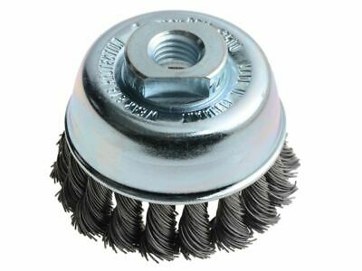 Knot Cup Brush 65mm M14 X 0.50 Steel Wire LES482217 • 17.28£