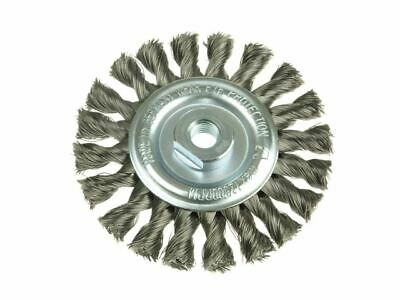 Knot Wheel Brush 115 X 14mm M14 Bore Steel Wire 0.50 LES472217 • 25.06£