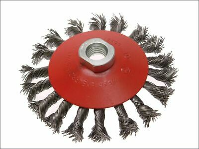 Conical Wire Brush 115mm M14 Bore 2 0.50mm Wire FAIWBTC115 • 12.60£