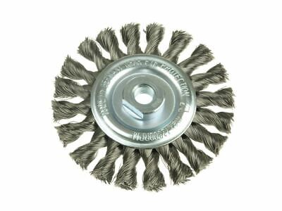 Knot Wheel Brush 115 X 14mm 22.2mm Bore Stainless Steel Wire LES472811 • 44.10£