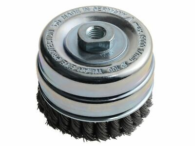 Knot Cup Brush 100mm M14 X 0.50 Steel Wire* LES486217 • 41.92£