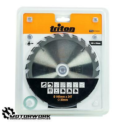 TRITON 165MM X 30MM TCT CONSTRUCTION WOOD SAW BLADE (24T) • 13.15£