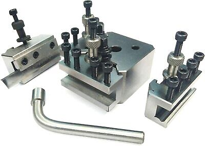 T37 Quick Change Tool Post Set+ 4 Holders-Myford & Lathe 90-115 Mm Center Height • 86.48£