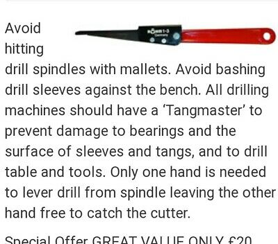 Tangmaster Drill Sleeve Driver 1-3 MT • 35£