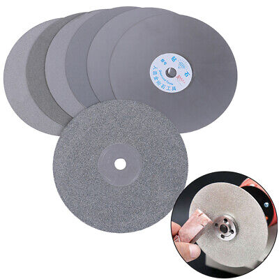 6  150mm Diamond Coated Flat Lap Disc Jewelry Polish Grinding Wheel 80~3000# JE • 8.38£