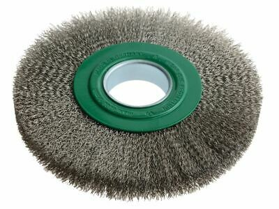 Wheel Brush D200mm X W24-27 X 50 Bore Stainless Steel Wire 0.30 LES365362 • 88.19£