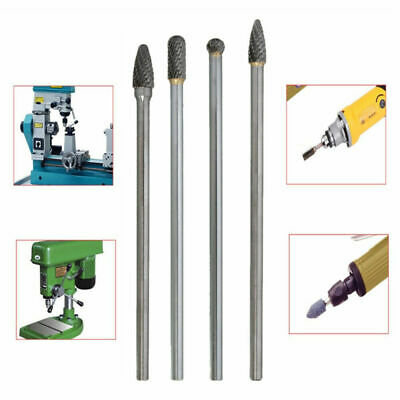 4Pieces Double Cut Long Reach Rotary Burr Tungsten Carbide Bit Rotary Bits Tool • 16.66£