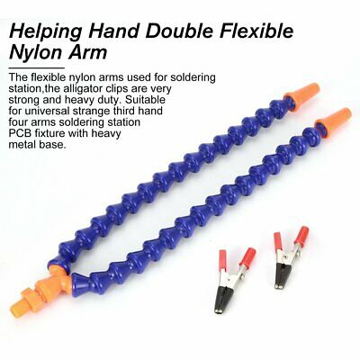 Helping Hand Double Flexible Nylon Arm For Aluminium Alloy Soldering Station ZX • 6.75£