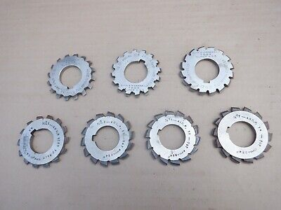 7 Off No 40DP GEAR CUTTERS. IN GOOD CONDITION • 105£