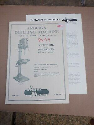 Arboga Drilling Machine, Instructions And Exploded View • 12£