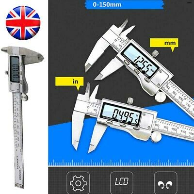 6INCH Digital Vernier Caliper Electronic Ruler Measure Micrometer Gauge Trammels • 14.29£