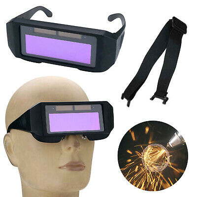 Auto Darkening LCD Welding Goggles Solar Glasses Mask Helmet Arc Eye Protection • 8.25£