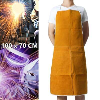 Welder Blacksmith Welding Apron Leather Workwear Protection Clothes Long Bibs • 11.87£