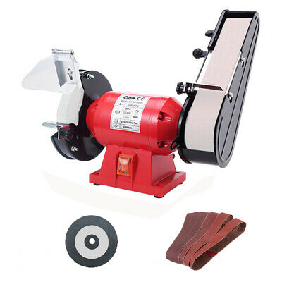 220V Electric Belt Sander Abrasive Finishing Grinding Machine Knife Sharpener • 261.60£